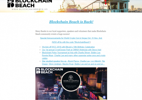 Blockchain Beach ? Upcoming Events ?
